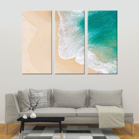 Conjunto 3 Tela Decorativa Mar e Areia