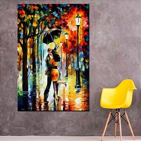 Quadro Pintura Apaixonados Tela Decorativa