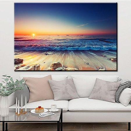 Quadro Canvas Praia Surreal
