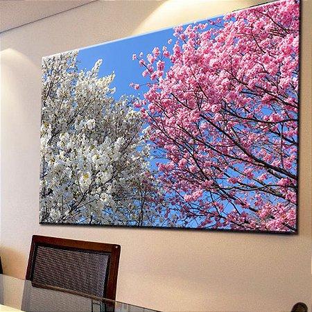 Quadro Canvas Sakuras Coloridas