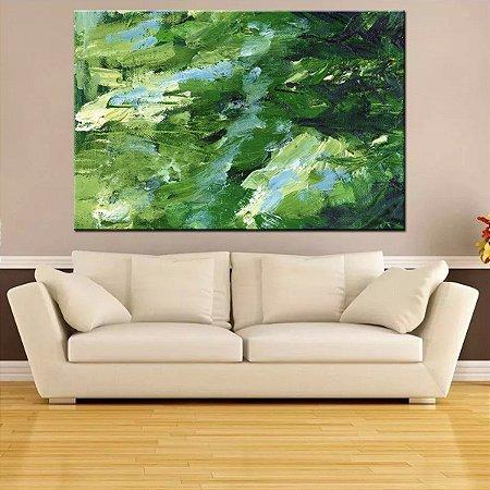 Quadro Canvas Abstrato Traços Verdes