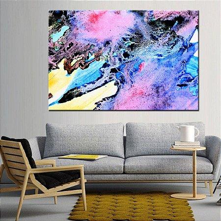 Quadro Canvas Vitral Abstrato