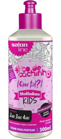Que tal? Molinhas Kids - Creme Para Pentear Salon Line - 300ml