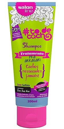 Shampoo Tratamento Pra Arrasar - Cachos Ressecados Jamais Salon Line - 200ml