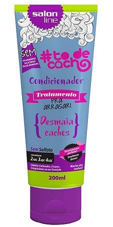 Condicionador Tratamento Pra Arrasar - Desmaia Cachos Salon Line - 200ml