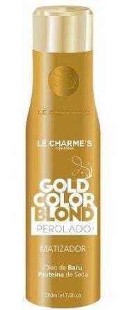 Intensy Gold Color Blond Platinado - Matizador Efeito Perolado Lé Charme's - 500ml