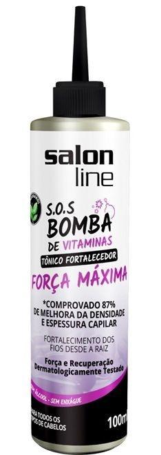 Tônico Fortalecedor SOS Bomba de Vitaminas Salon Line - Força Máxima - 100ml