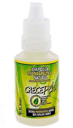 Crece Pelo - Ampola Tratamento Fitoterápico Natural de Crescimento Capilar - 20ml