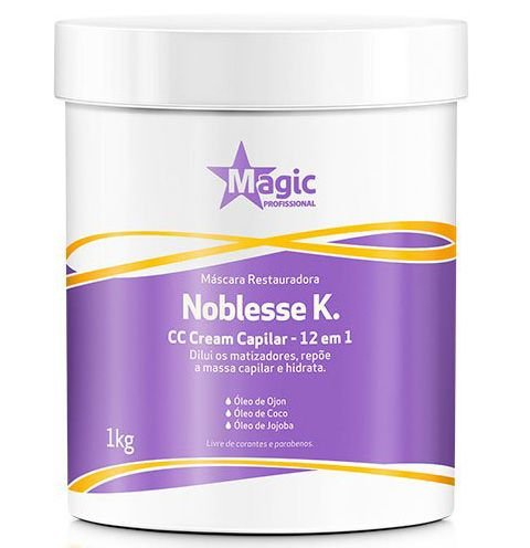 Magic Color - Máscara Restauradora Noblesse K. 12 em 1 CC Cream Capilar - 1kg
