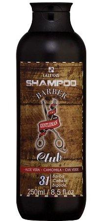 Barber Club Shampoo para Barba, Cabelo e Bigode Lattans - 250ml