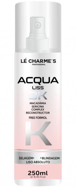 Acqua Liss 3K Fluido Alisante Lé Charme's - 250ml
