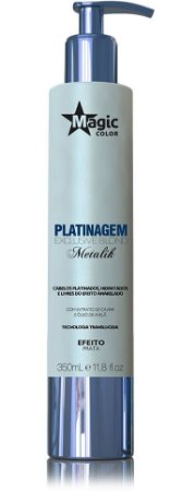 Magic Color Platinagem Exclusive Blond Metalik - Efeito Prata - 350ml