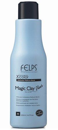 Felps Magic Clay Plus Xcolor Matizador Platinum Blond - 500g