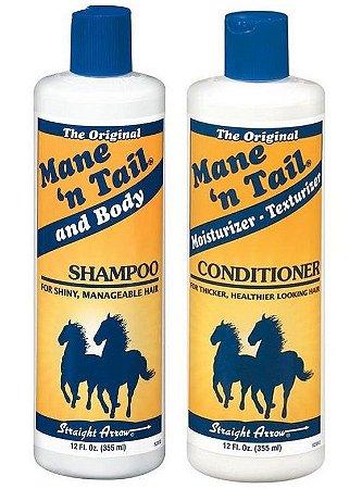 Mane 'n Tail Kit Shampoo + Condicionador (Shampoo de Cavalo) - 2 Produtos
