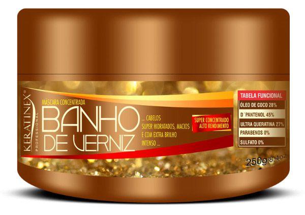 Keratinex Banho de Verniz Máscara Concentrada Extra Brilho Intenso - 250g
