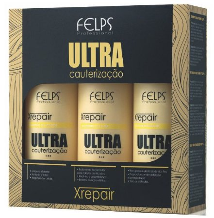 Felps Xrepair Kit Ultra Cauterização - 3x500ml
