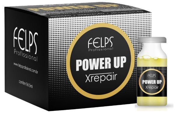 Felps Xrepair Power Up Complexo de Vitaminas Caixa com 9 Ampolas - 9x15ml