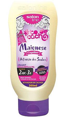 Maionese Capilar Ativador de Cachos #ToDeCacho - Definição dos Sonhos Salon Line - 300ml