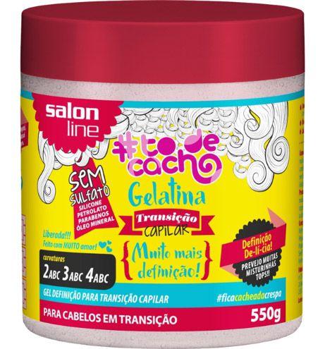 Gelatina Transição Capilar #ToDeCacho - Muito Mais Definição Salon Line - 550g