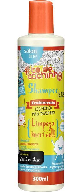 Shampoo Kids #ToDeCachinho - Limpeza Incrível! Salon Line - 300ml