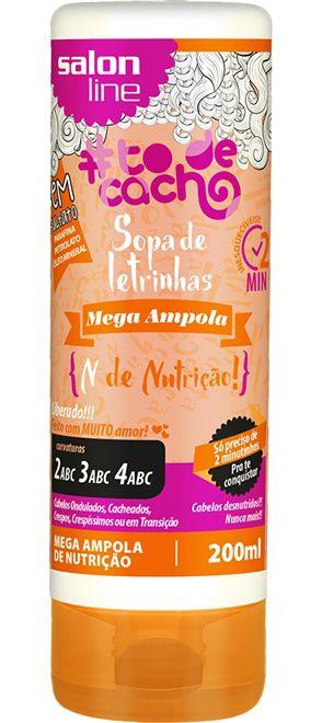 Mega Ampola Sopa de Letrinhas #ToDeCacho - N de Nutrição! Salon Line - 200ml