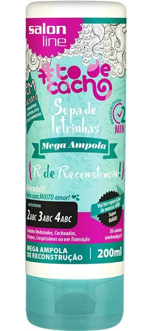 Mega Ampola Sopa de Letrinhas #ToDeCacho - R de Reconstrução! Salon Line - 200ml