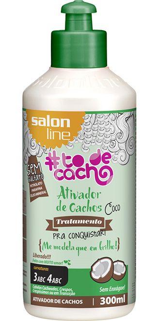 Ativador de Cachos Coco #ToDeCacho - Me Modela que eu Brilho! Salon Line - 300ml