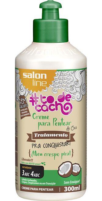 Creme para Pentear de Coco #ToDeCacho - Meu Crespo Pira! Salon Line - 300ml