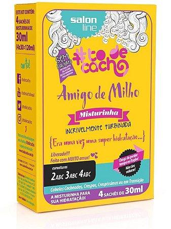 Amigo de Milho Misturinha #ToDeCacho - Era uma vez uma Super Hidratação... Salon Line - 4 Sachês de 30ml