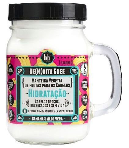 BeMdita Ghee Banana e Aloe Vera - Máscara de Hidratação Lola Cosmetics - 350g