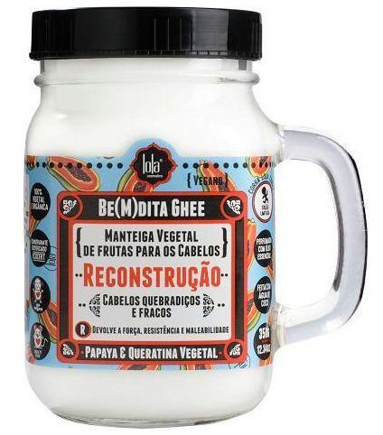 BeMdita Ghee Papaya e Queratina Vegetal - Máscara de Reconstrução Lola Cosmetics - 350g
