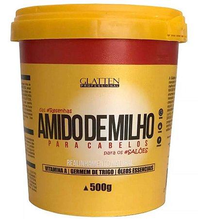 Glatten Amido de Milho - Máscara de Realinhamento Capilar Natural - 500g