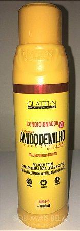 Glatten Amido de Milho - Condicionador de Realinhamento Capilar Natural - 300ml