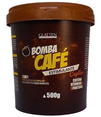Glatten Bomba de Café - Máscara Estimulante Capilar 2 em 1 - 500g