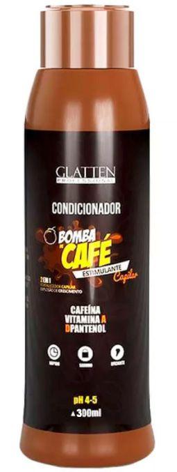 Glatten Bomba de Café - Condicionador Estimulante Capilar 2 em 1 - 300ml