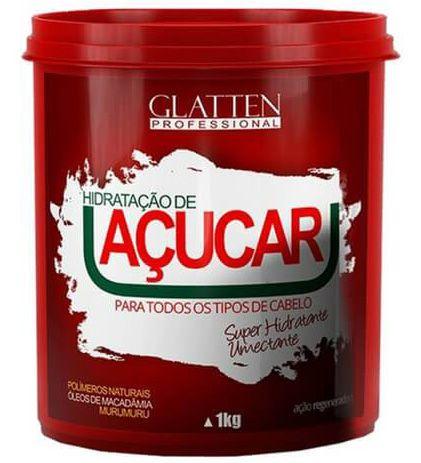 Glatten Hidratação de Açucar - Máscara Super Umectante - 1kg