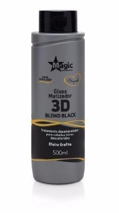 Magic Color Gloss Matizador 3D Blond Black - 500ml