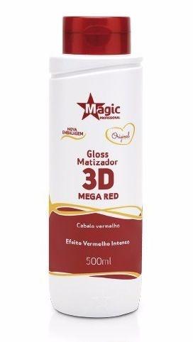 Magic Color Gloss Matizador 3D Para Cabelos Ruivos - Mega Red - 500ml