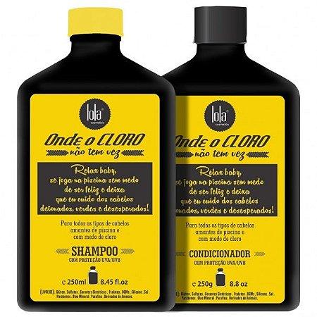 Kit Onde o Cloro Não Tem Vez Lola - Shampoo + Condicionador (2 Produtos)