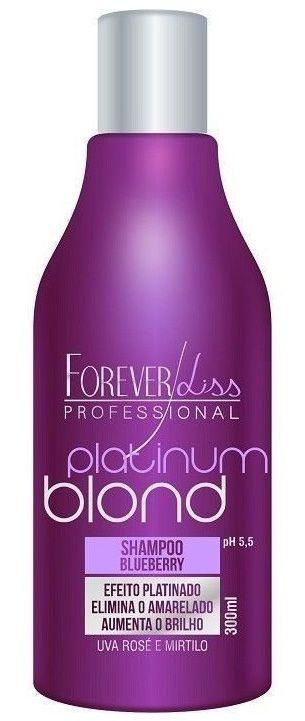 Platinum Blond Shampoo Matizador Blueberry Forever Liss - 300ml