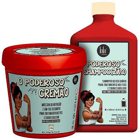Kit O Poderoso Lola - O Poderoso Cremão + O Poderoso Shampoo(zão) - 2 Produtos