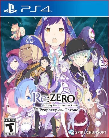 RE:ZERO STARTING LIFE IN ANOTHER WORLD THE PROPHECY OF THE THRONE PS4 MIDIA DIGITAL