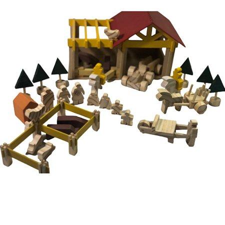 Fazendinha em madeira