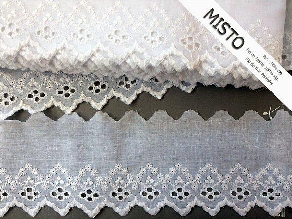 Tira Bordada 9,00 cm - MISTO cerca de 92% algodão e 8% poliéster | Peça com 14,40 m