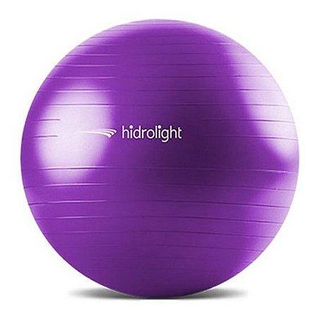 Bola para Ginástica 65cm C/ Pump de Enchimento Lilás Hidrolight