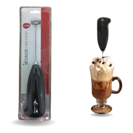 Mini Mixer Misturador De Bebidas Leite Cremoso a Pilha