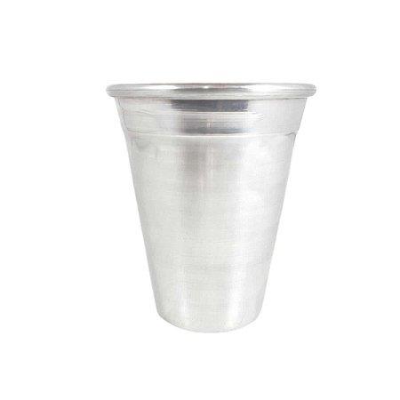 Copo de Alumínio reforçado polido 300 ml água cerveja suco
