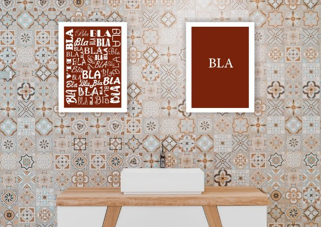 Kit Quadro Banheiro Masc Fem com Moldura e Vidro