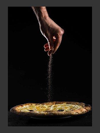 Quadro Decorativo pizza Com Moldura E Vidro