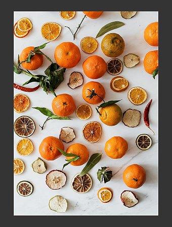 Quadro Decorativo comida laranja Com Moldura E Vidro